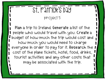 St. Patrick's Day Project-Based Learning & Enrichment for Literacy, Math & STEM