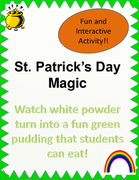 St. Patrick's Day Pudding Activity