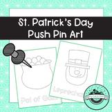 St. Patrick's Day Push Pin Art