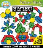 St. Patrick's Day Puzzle Pattern Blocks Clipart {Zip-A-Dee-Doo-Dah Designs}