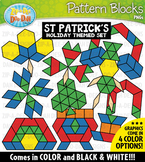 St. Patrick's Day Puzzle Pattern Blocks Clipart {Zip-A-Dee