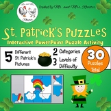 St. Patrick's Day Puzzles - Google Classroom Puzzles PK-8 {Tech Activity}