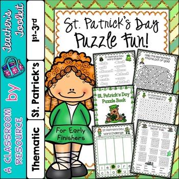 St. Patrick's Day Puzzles No Prep {UK Teaching Resource}