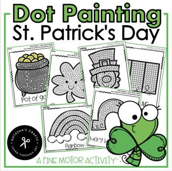 Q-Tip Painting St. Patrick's Day / Fine Motor Development Activity