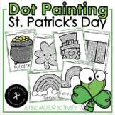 Q-Tip Painting St. Patrick's Day / Fine Motor Development