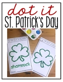 St. Patrick's Day Q-tip Dot-It Tracer Pages