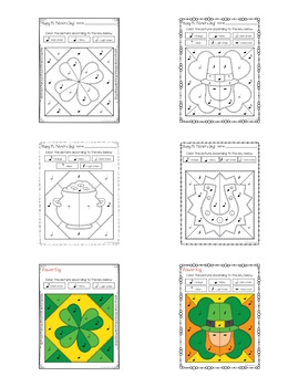 St. Patrick's Day Quilt Color by Notes and Rests