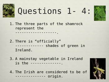 St. Patrick's Day Quiz