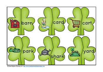 St. Patrick's Day R-Controlled Vowel Puzzles