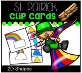 St. Patrick's Day Rainbow 2D Shapes Cards