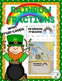 FREEBIE! St. Patrick's Day Rainbow Fruit-Loop Fractions