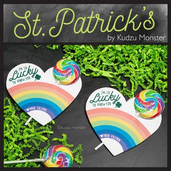 St. Patrick's Day Rainbow Hearts