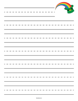 St. Patrick's Day Rainbow Primary Lined Paper