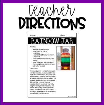 {1st-2nd} St. Patrick's Day - Rainbow Science Experiement
