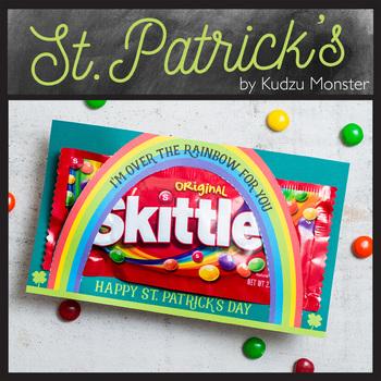 St. Patrick's Day Rainbow Skittles / M&M Cards