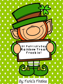 St. Patrick's Day Rainbow Treat Tag FREEBIE!