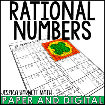 St. Patrick's Day Math Activity: Rational Numbers Review