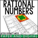 St. Patrick's Day Math Activity Rational Numbers Review