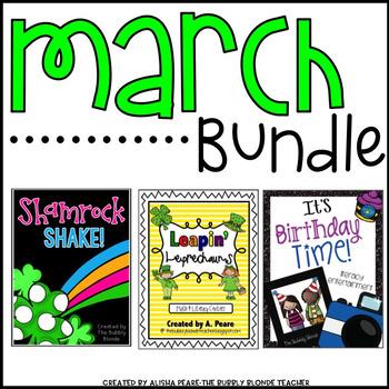 St. Patrick's Day & Read Across America March Bundle
