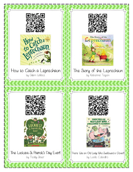St. Patrick's Day - Read Aloud Stories with QR Codes ***Free***