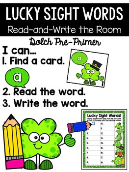 St. Patrick's Day Read and Write the Room {Kindergarten}
