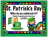 St. Patrick's Day Reader; Why do we celebrate St. Patrick's Day?