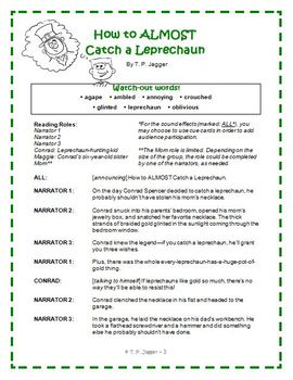 Readers' Theater - St. Patrick's Day Readers' Theater Script & More (grades 3-6)