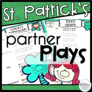 St. Patrick's Day Readers Theater Partner Plays Poems for Grade 1, 2, and 3