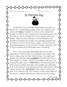 St. Patrick's Day Reading