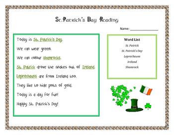 St Patrick's Day Reading