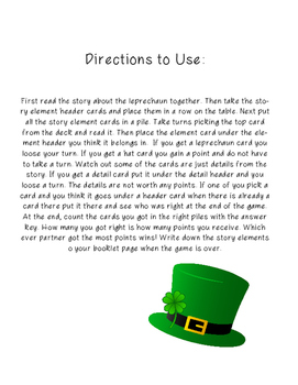 St. Patrick's Day Reading Activity