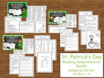 St. Patrick's Day Reading Comprehension Bundle