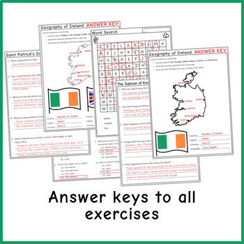 IRELAND: Reading Comprehension, Literacy, Activities - for St Patrick's Day!