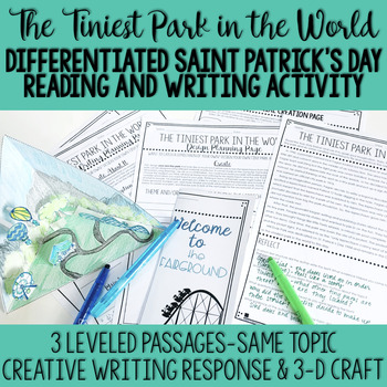 St. Patrick's Day Reading Comprehension Passage, Creative Writing, and Craft