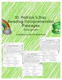 St. Patrick's Day Reading Comprehension Passages Third Grade