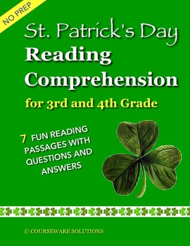 St. Patrick's Day Reading Comprehension for 3rd & 4th Grade