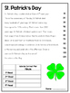 March & St. Patrick's Day Reading Fluency