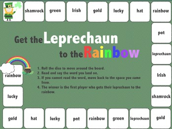 St. Patrick's Day Reading Game