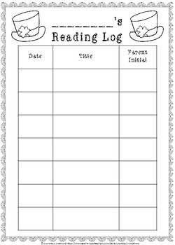 St. Patrick's Day Reading Logs