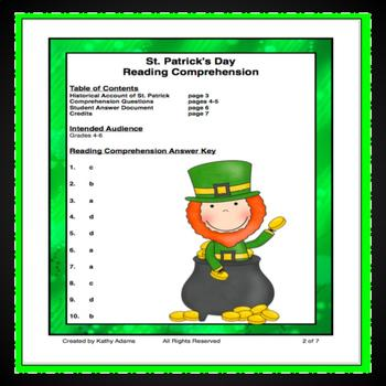 St. Patrick's Day Reading Low Prep