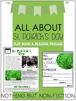 St. Patrick's Day Reading Passage and Flipbook