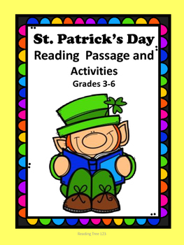 St. Patrick's Day Reading Passage and Activities