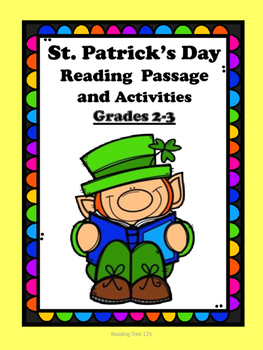 St. Patrick's Day Reading Passage and Activities Grades2-3