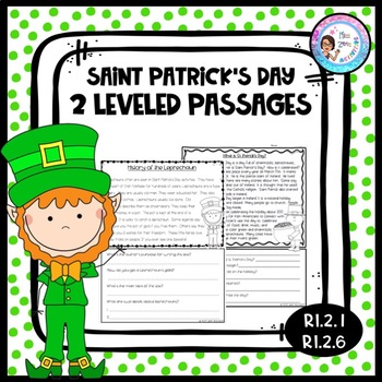 St. Patrick's Day Reading Passages with Questions