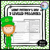 St. Patrick's Day Passages with Questions - RI.2.1, RI.2.6