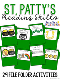 St. Patrick's Day Reading Skills File Folder Tasks (29 Tasks Included)