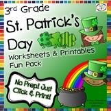 St. Patrick's Day Reading, Writing, Math, Fun Activities & Worksheets- 3rd Grade