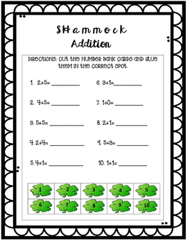 St. Patrick's Day Reading and Math Activities