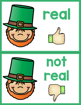 St. Patrick's Day Real or Non-Sense Words