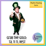 St Patrick's Day Music Game - Rhythms: Ta, Ti Ti, Rest - Grab the Gold